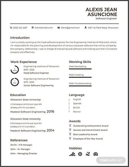 Resume Template Software Raptor Redmini Co