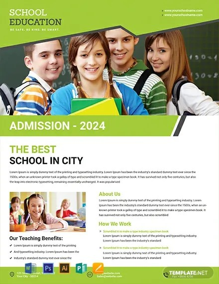 Free Education Flyer Template Word Psd Apple Pages
