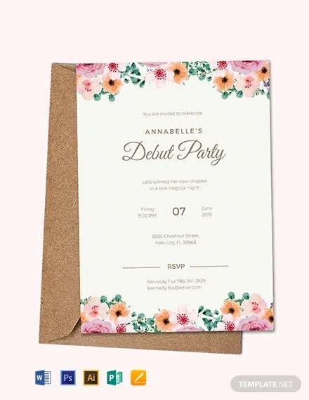 Free Formal Debut Invitation Template