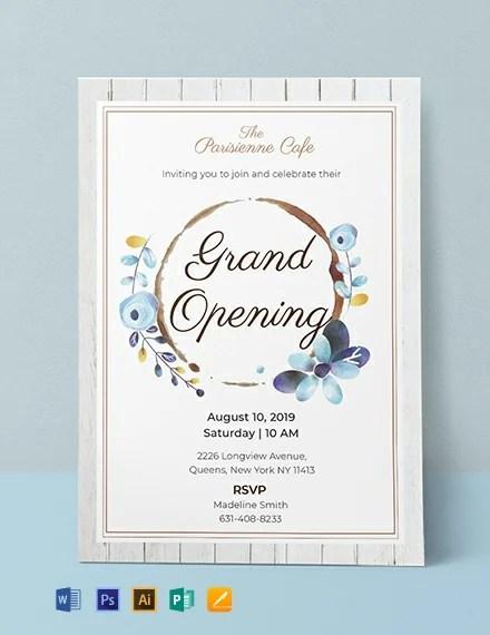 invitation template opening ceremony