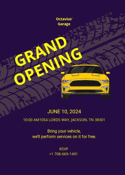 automotive repair shop opening