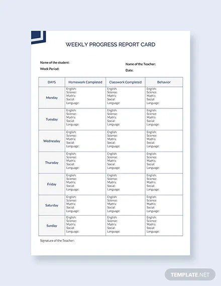 30 Free Report Card Templates Pdf Word Excel Psd