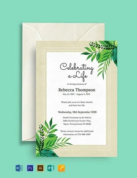 Free Ceremony Invitation Template
