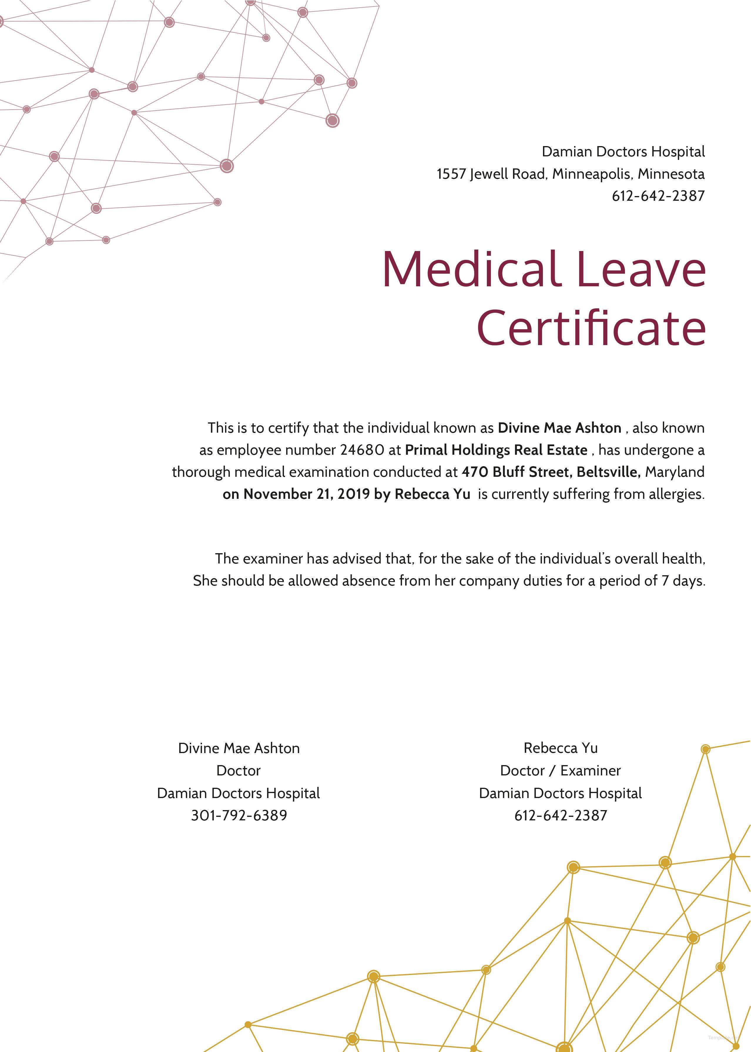 Gift Certificate Template Illustrator