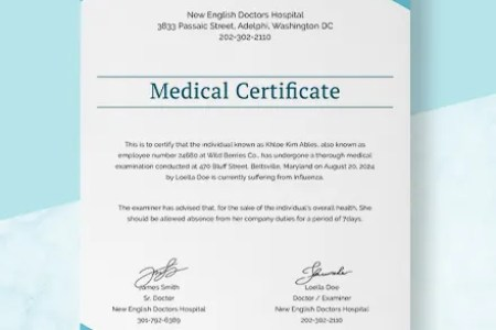 Medical Experience Certificate Template  Download 200  Certificates     Sample Medical Certificate from Doctor Template