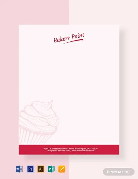 Free Bakery Letterhead Template Word Psd Apple Pages