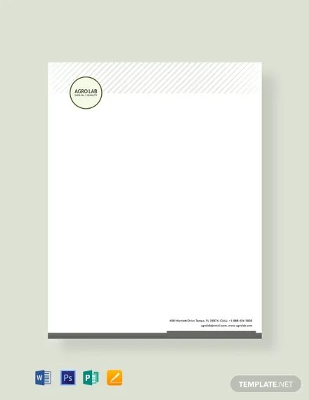 Free Agriculture Letterhead Template Word Psd Apple