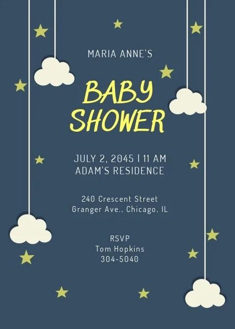 twinkle twinkle star baby shower