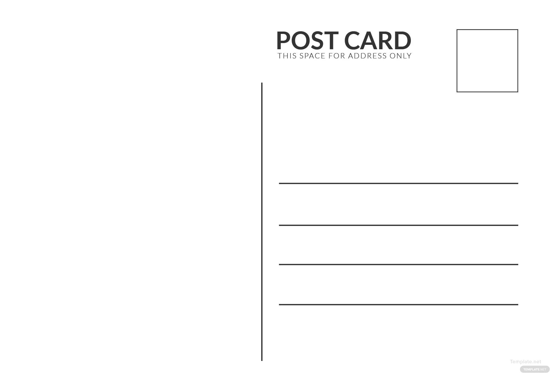 Blank White Index Postcard Template In Adobe Photoshop