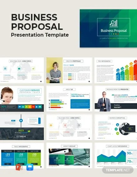 Free Business Proposal Presentation Template Powerpoint