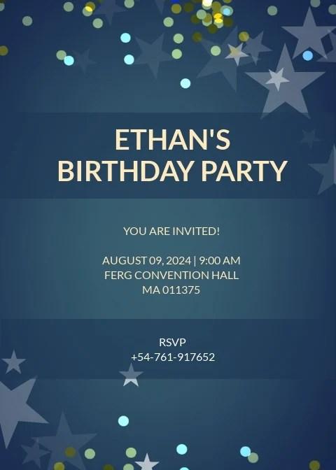 free birthday invitation templates in