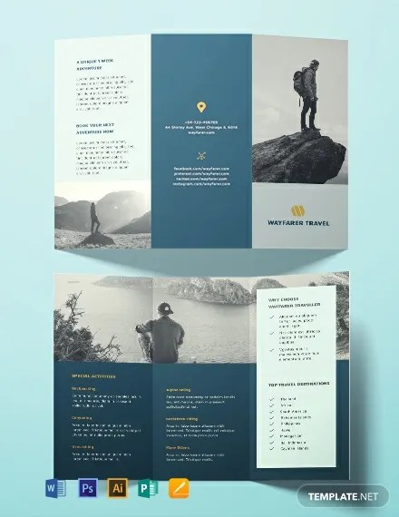 FREE Travel Brochure Template Download 999 Brochures In PSD Illustrator Word Publisher