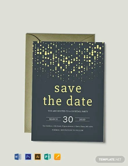 FREE Save The Date Party Invitation Template Download 886 Invitations In PSD InDesign Word