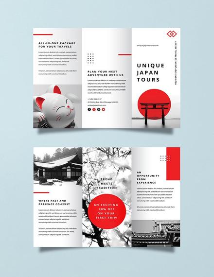 FREE Japan Travel Brochure Template Download 281 Brochures In PSD Illustrator Word