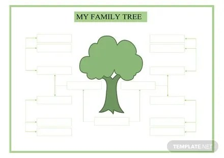 Large Family Tree Template   Free Templates Large Family Tree Template