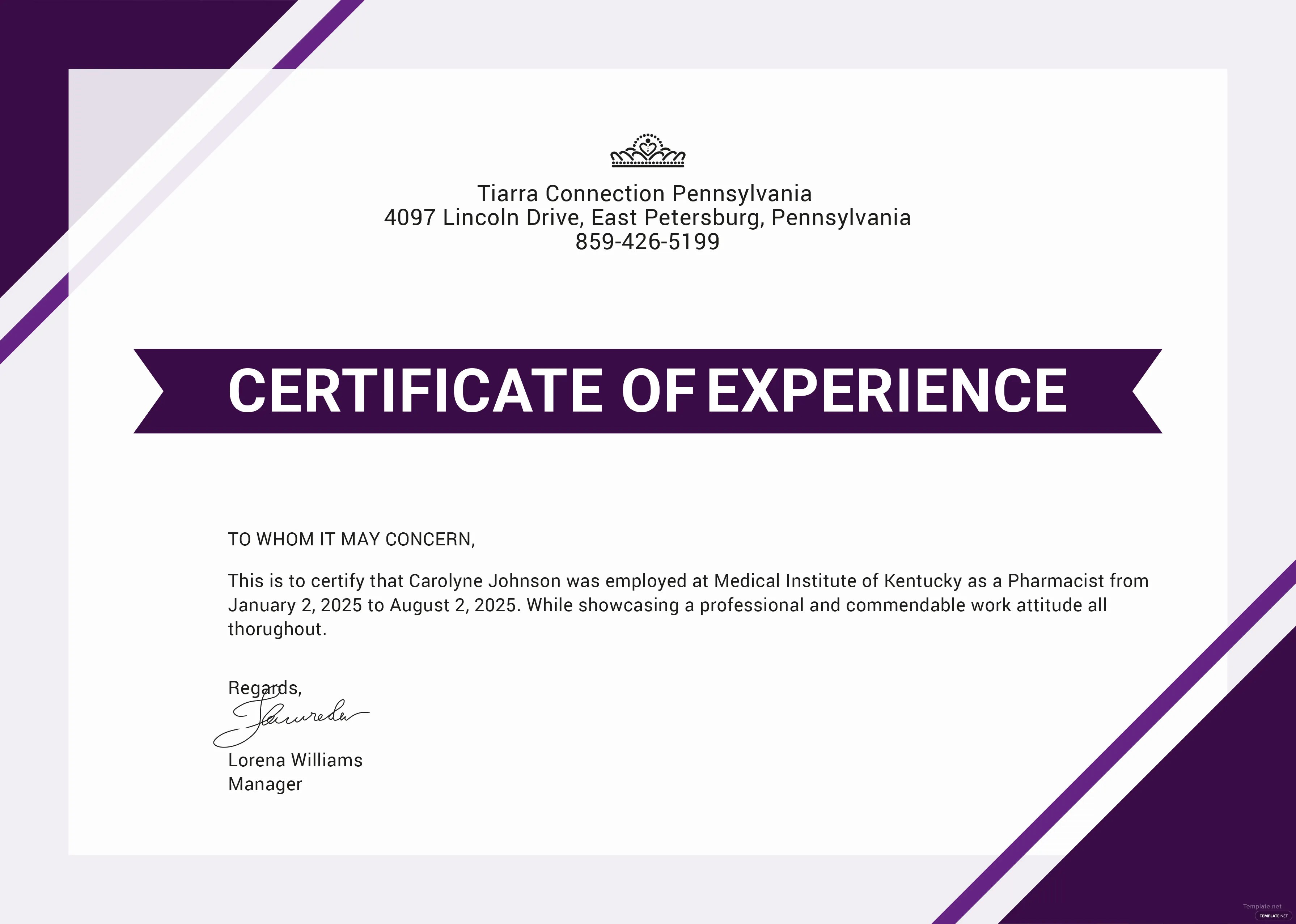Free Certificate Of Job Experience Template In Adobe Photoshop Microsoft Word Microsoft