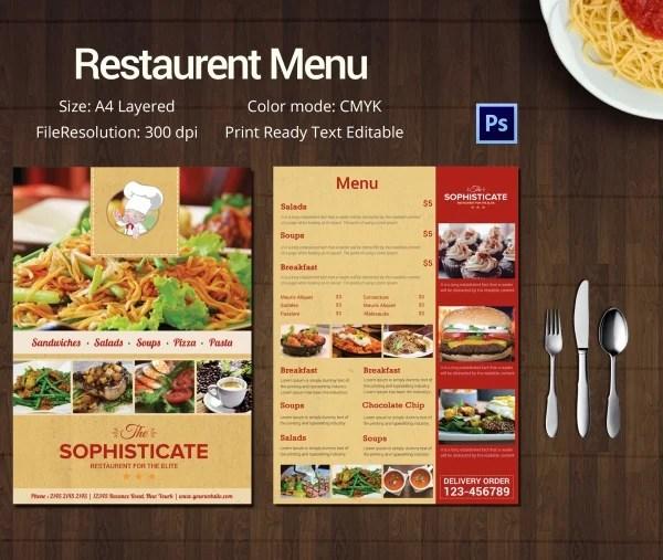 Image Result For What Is Restaurant Menu Template?  A La Carte Menu Template