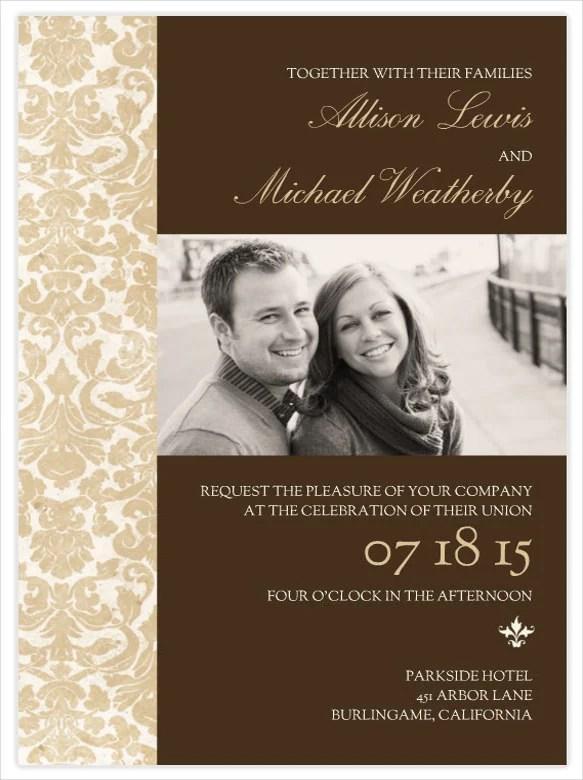 Wedding Invitation Psd