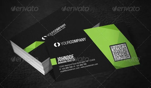 34 Best QR Code Business Card Identity Mockups PSD