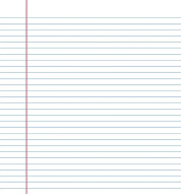 Four lined paper for writing