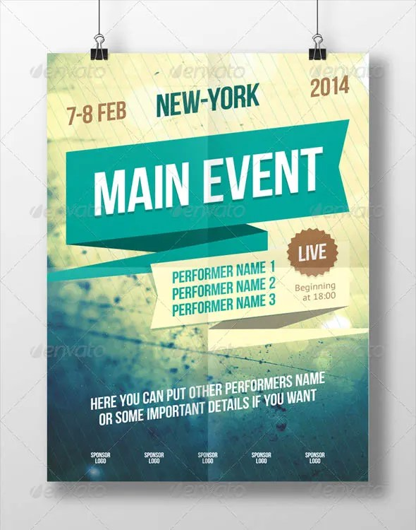 Event Poster Templates. event poster vectors photos and psd files ...