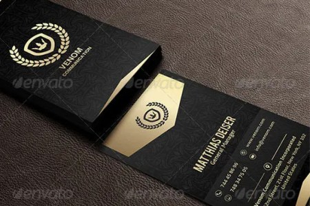 40  Excellent Black Business Cards to Download   Free   Premium     Gold And Black Business Card
