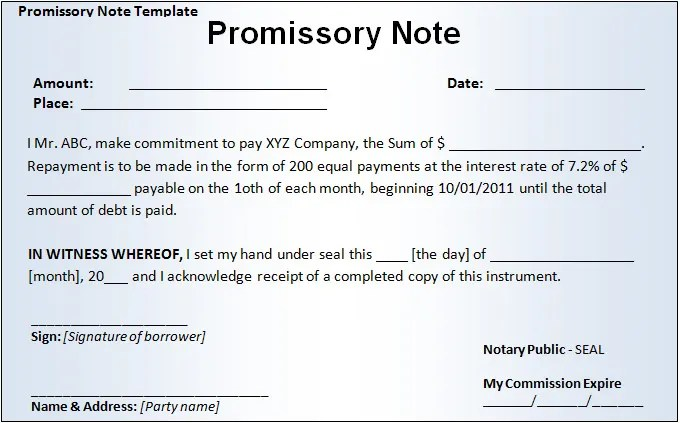 Demand Promissory Note Template letter sample and sample simple – Promissory Notes Examples