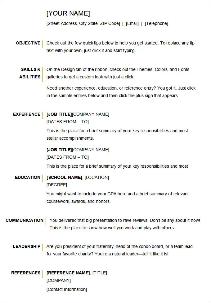 basic resume format examples selop resume beams with quality sample of basic resume