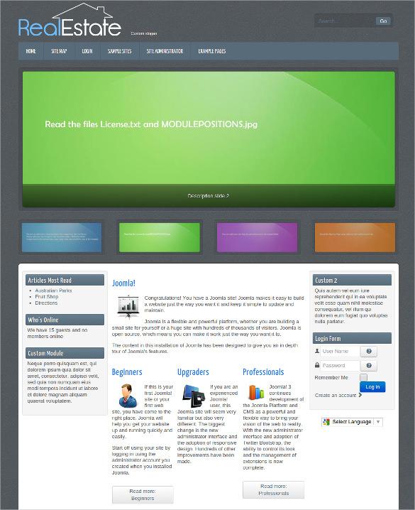 Free Joomla Website Template  designer joomla website