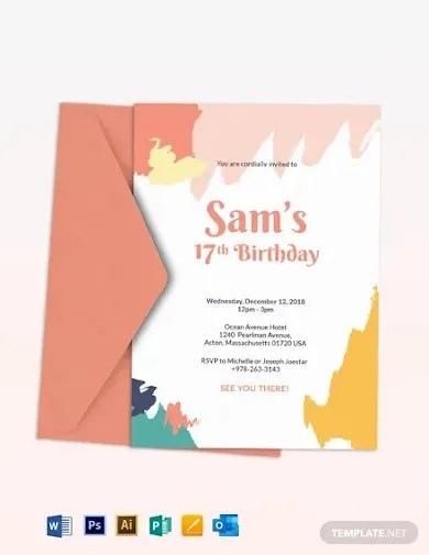 29 birthday invitation templates