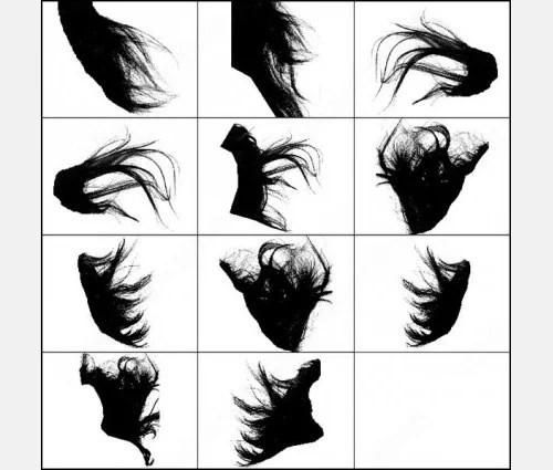 44 Photoshop Hair Texture Brushes PSD AI Vector EPS