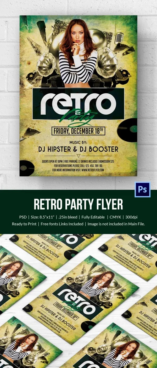 Retro Style Flyer Template 44 Free PSD Format Download Free Amp Premium Templates
