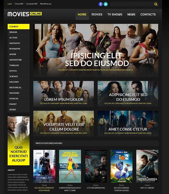 20 Cinema WordPress Themes Amp Templates Free Amp Premium Templates