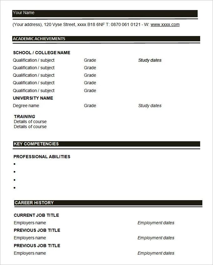 resume format blank free blank resume form resume advice orglearn cv