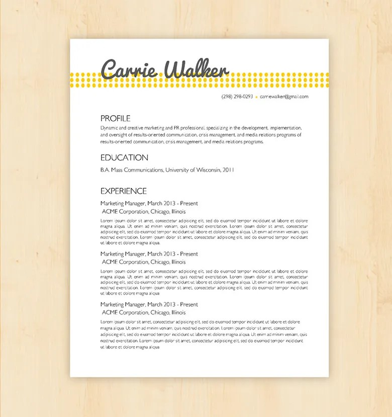 Resume Example - Executive Assistant, CareerPerfect