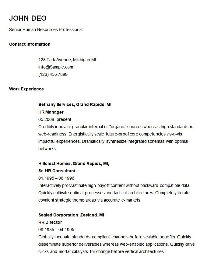 senior php developer resume
