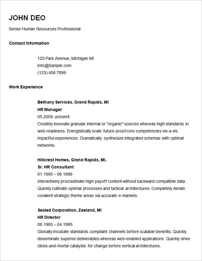free simple resume builder easy templates basic - Free Basic Resume Builder