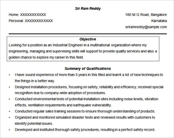 Software Developer Resume Objective - Resume Sample