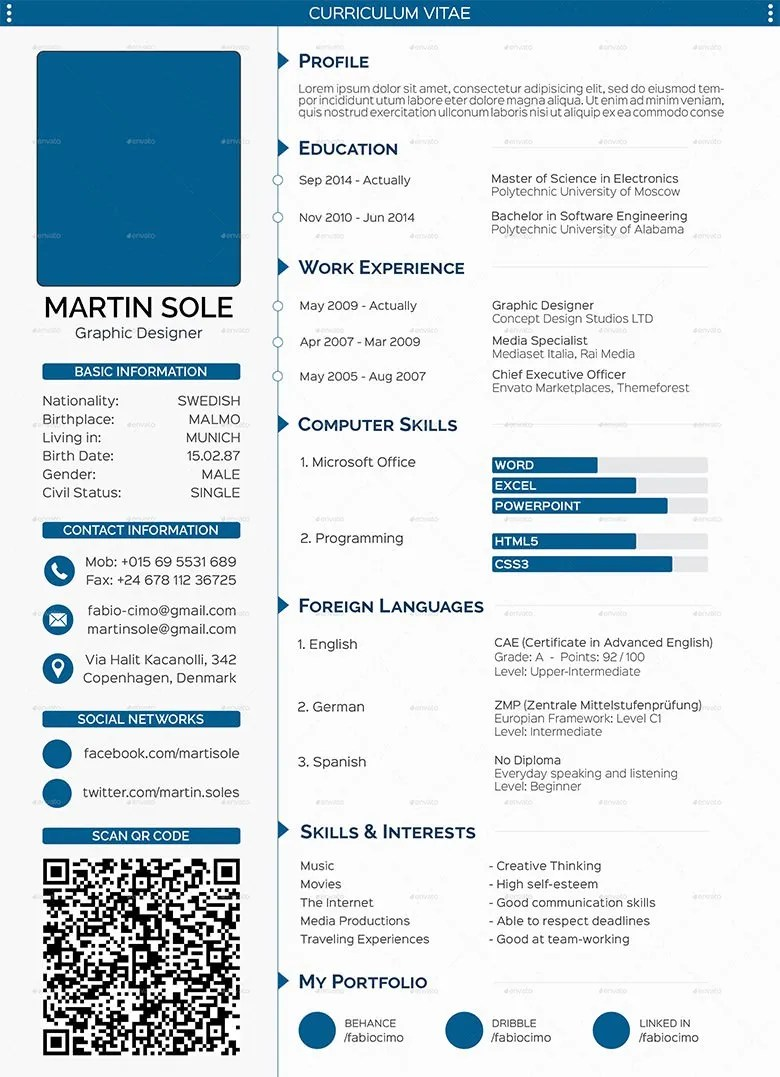 cv templates 61 free samples examples format download free