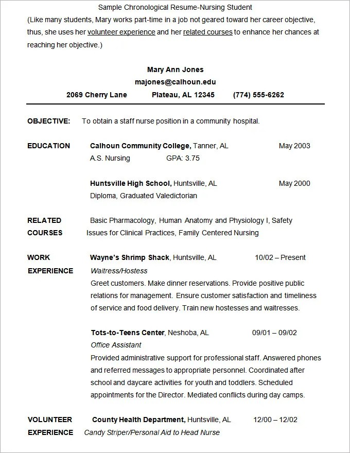 Nursing Student Resume Format Template Microsoft Word Resume Template 99  Free Samples Examples  Nursing Student Resume Template