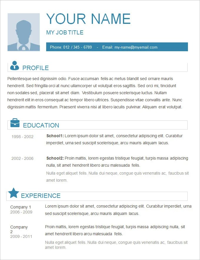 Basic Resume Examples For Students. Basic Resume Template Easy