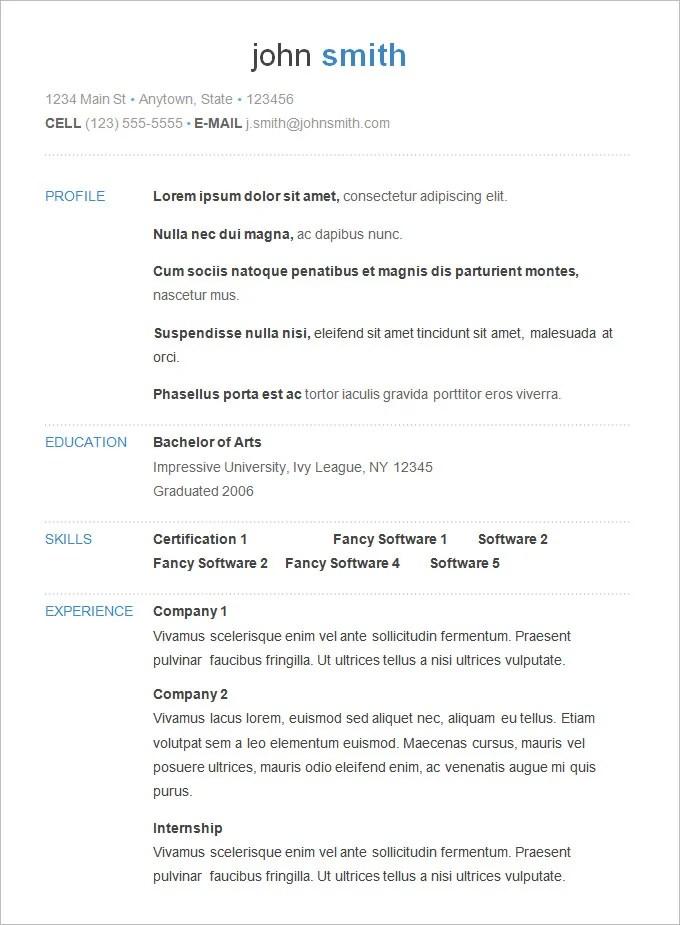 A Basic Resume. Basic Resumes. Sample Resume Resume Com. A Basic