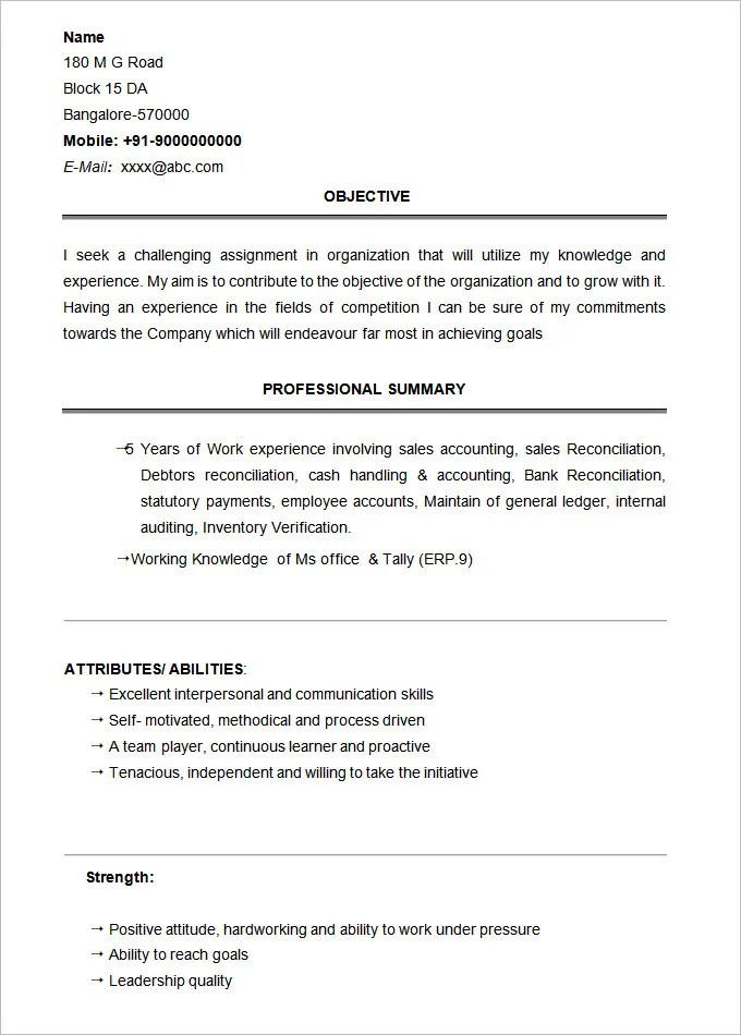student resume template 21 free samples examples format