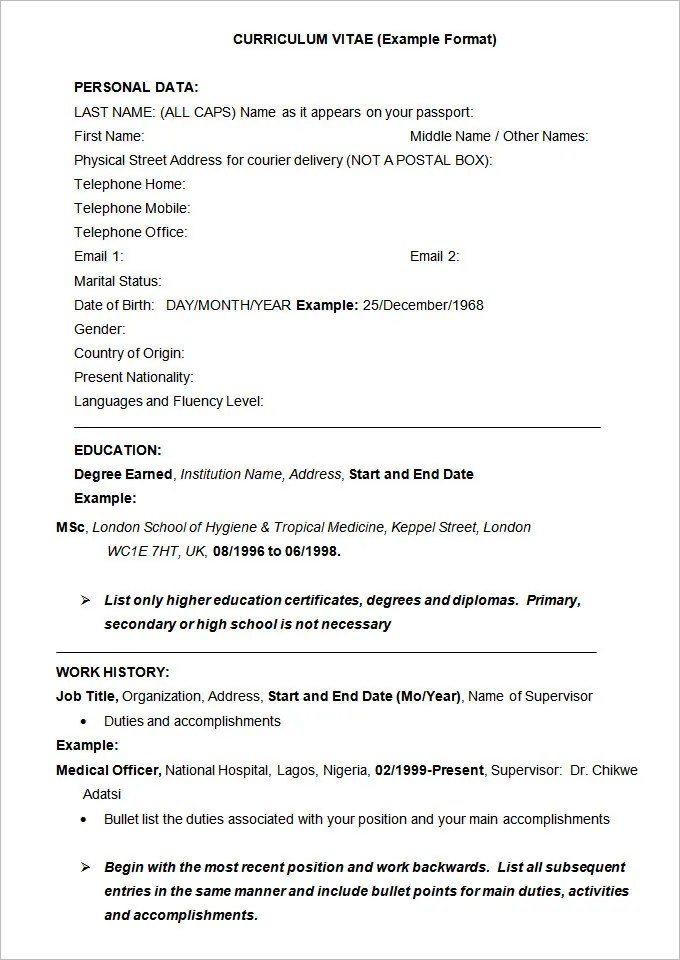 resume example 34 free samples examples format download free