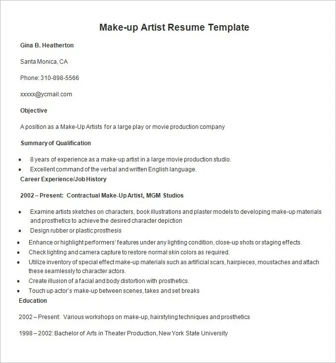 Resume For Mac Cosmetics. lady gaga dk3. qualifications to be a mac ...