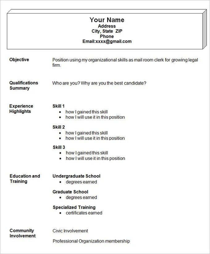 40 examples format download