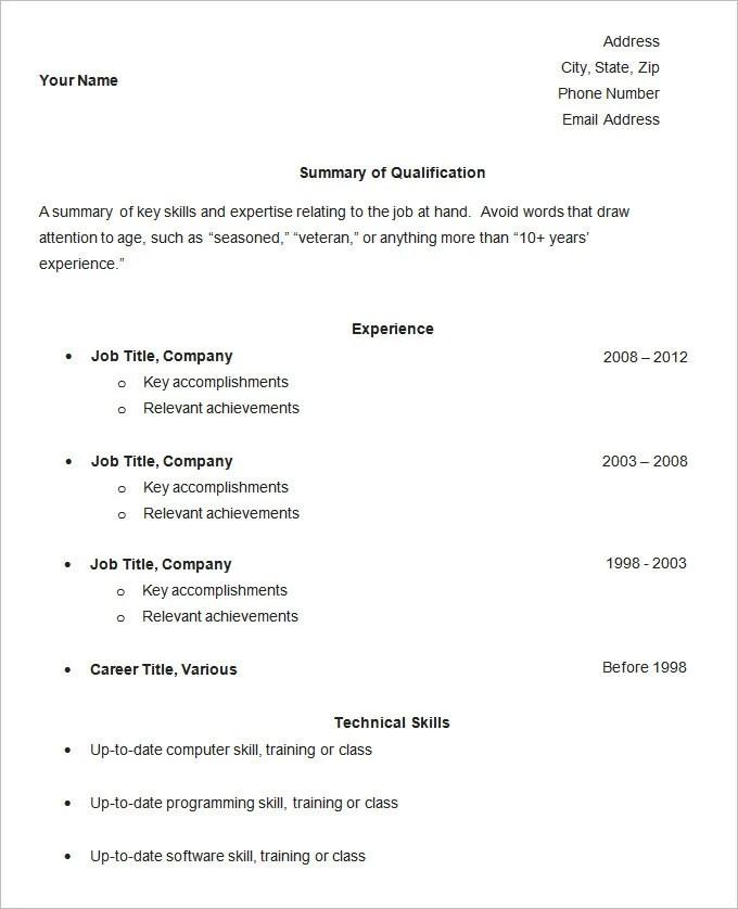 Simple Easy Resume Examples. Simple Resume Template Sample Cv