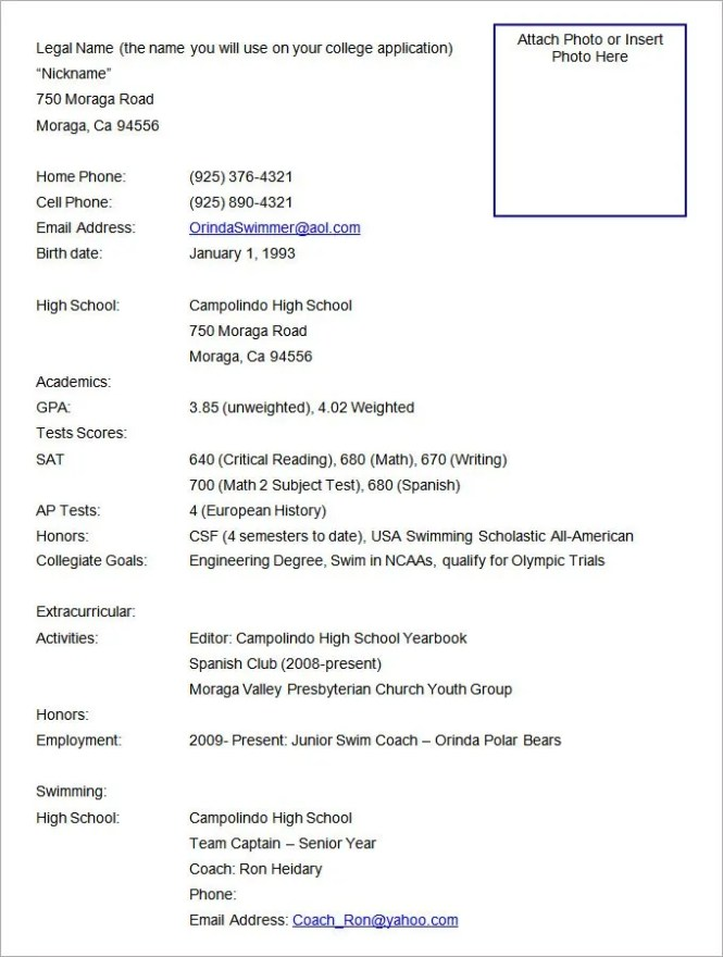 american format resume
