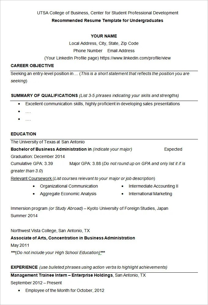 resume example 34 free samples examples format download