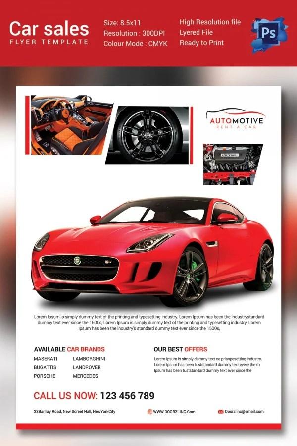 Car Flyer Template 35 best car wash flyer templates and designs – Car Sale Flyer